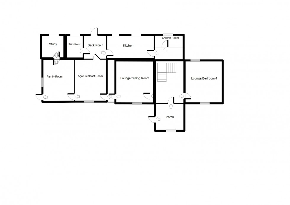 Floorplan for Mill House, Brodie, Forres