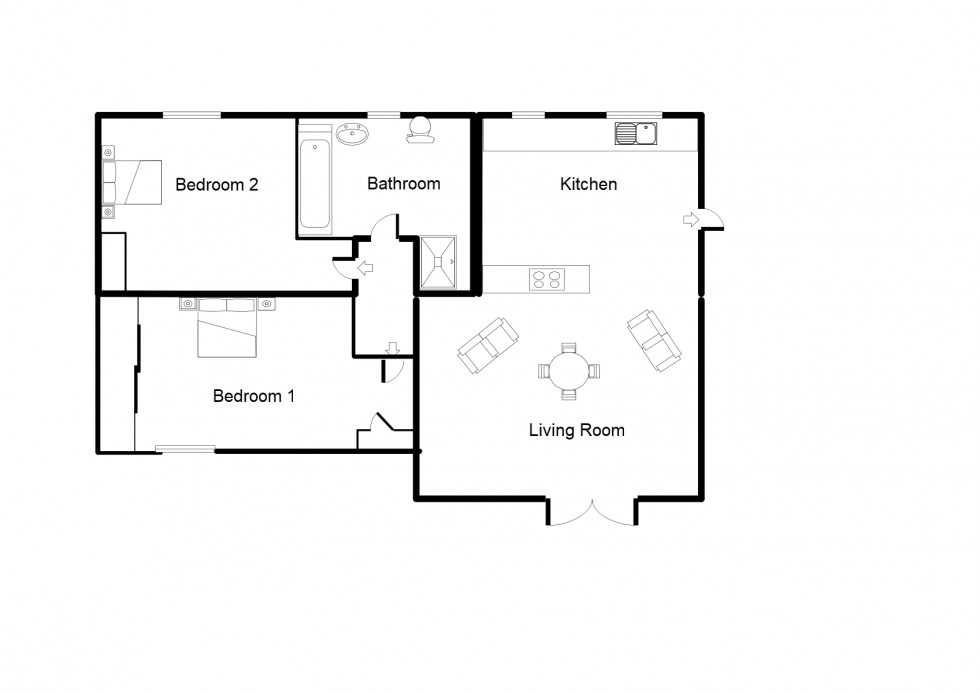 Floorplan for Cloddymoss, Kintessack