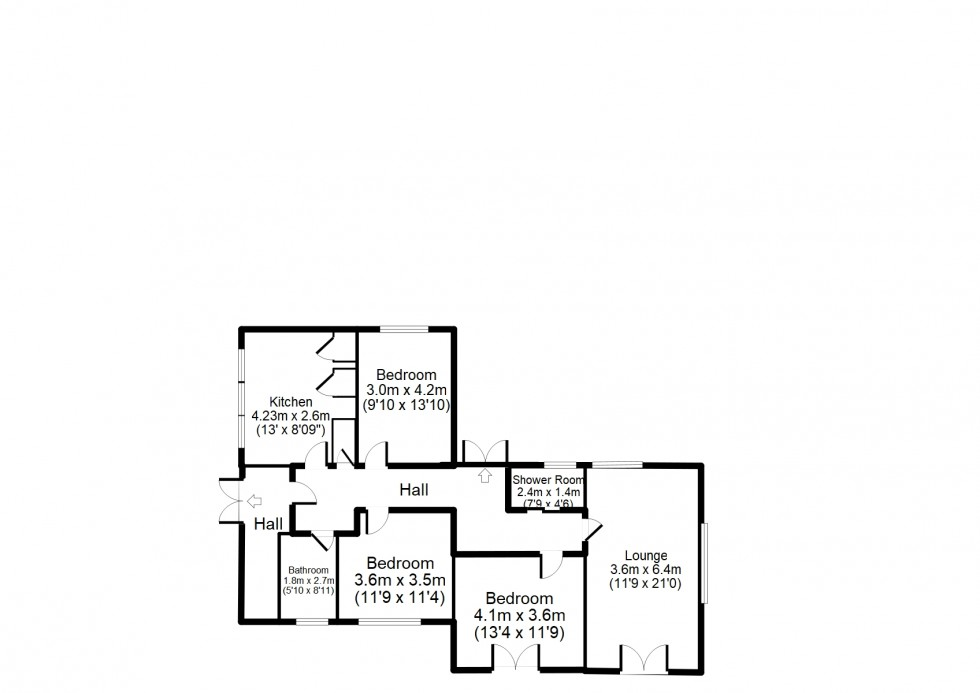 Floorplan for Findhorn, Forres
