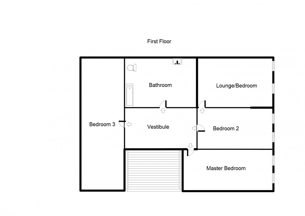 Floorplan for **REDUCED PRICE** 1 Caroline Street, Forres