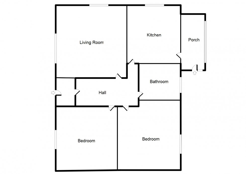 Floorplan for South Cottages, Braes Of Enzie, Buckie
