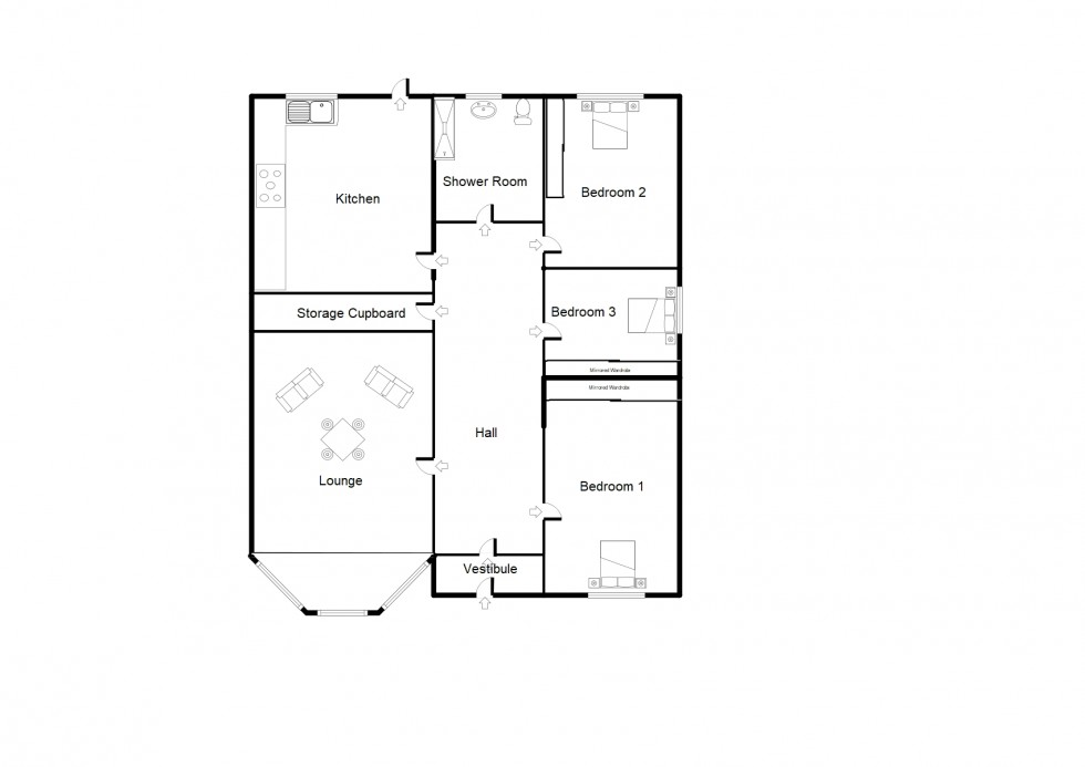 Floorplan for Knockomie Gardens, Forres