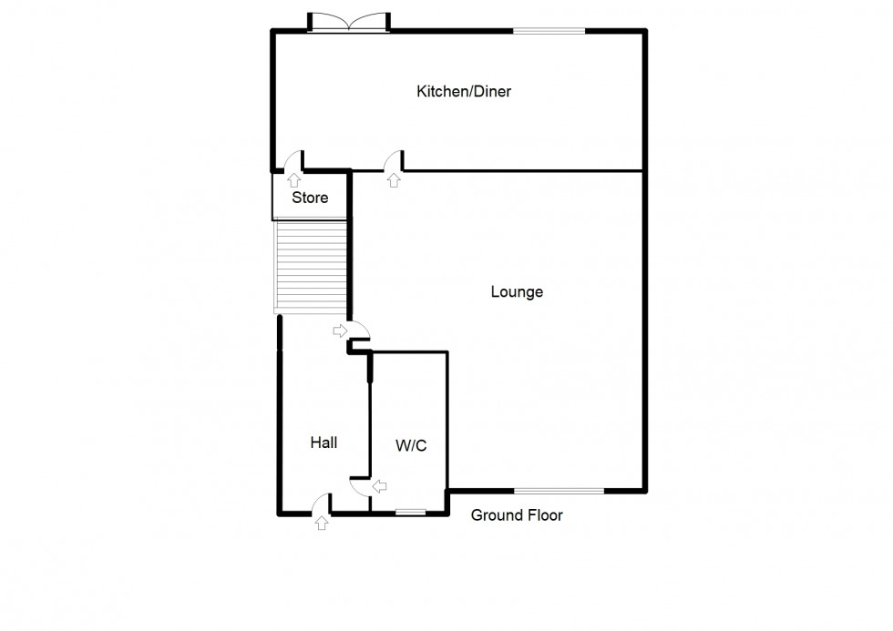 Floorplan for Falconer Avenue, Forres
