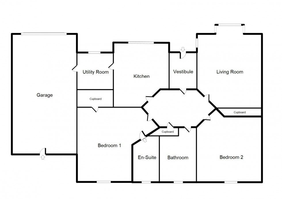 Floorplan for Mannachie Gardens, Forres